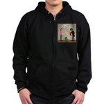 Pet Zombies Zip Hoodie (dark)