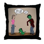 Pet Zombies Throw Pillow