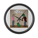 Pet Zombies Large Wall Clock