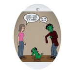 Pet Zombies Oval Ornament