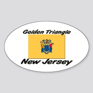 Golden Triangle New Jersey Oval Sticker