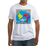 Fish Fashion Fitted T-Shirt