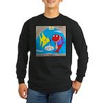Fish Fashion Long Sleeve Dark T-Shirt