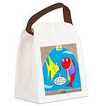Fish Fashion Canvas Lunch Bag
