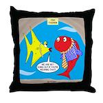 Fish Fashion Throw Pillow