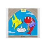 Fish Fashion Throw Blanket