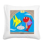 Fish Fashion Square Canvas Pillow