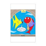 Fish Fashion Mini Poster Print