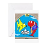Fish Fashion Greeting Cards (Pk of 10)
