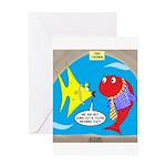 Fish Fashion Greeting Card