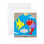Fish Fashion Greeting Cards (Pk of 20)