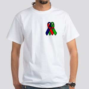 """My son's new heart"" White T-Shirt"