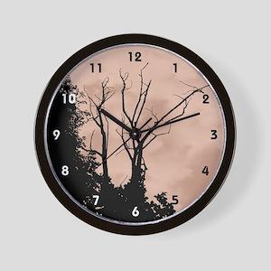 Tree Ornate Copper-coloured Wall Clock