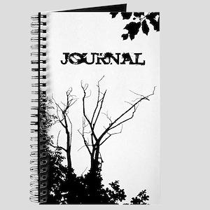 Tree Ornate Black and White Journal