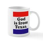 God is from Texas mug