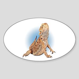 Bearded Dragon Oval Sticker