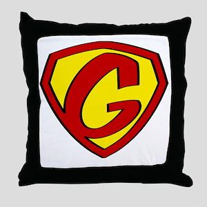 Super G Logo Costume 05 Throw Pillow