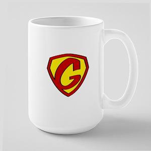 Super G Logo Costume 05 Large Mug