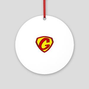 Super G Logo Costume 05 Round Ornament