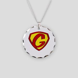 Super G Logo Costume 05 Necklace Circle Charm
