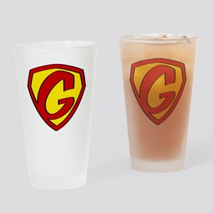 Super G Logo Costume 05 Drinking Glass