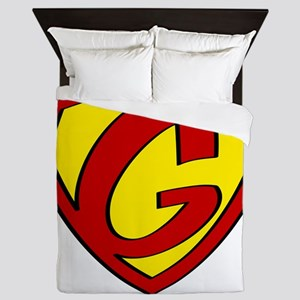 Super G Logo Costume 05 Queen Duvet