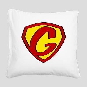 Super G Logo Costume 05 Square Canvas Pillow