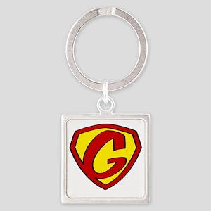 Super G Logo Costume 05 Square Keychain