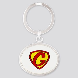 Super G Logo Costume 05 Oval Keychain