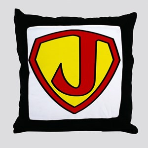 Super J Logo Costume 05 Throw Pillow
