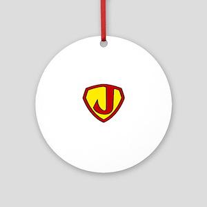 Super J Logo Costume 05 Round Ornament