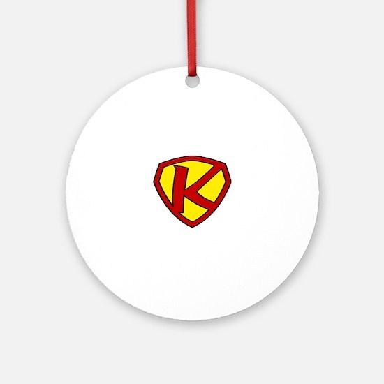 Super K Logo Costume 05 Round Ornament