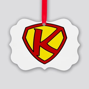 Super K Logo Costume 05 Picture Ornament