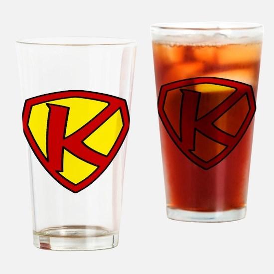 Super K Logo Costume 05 Drinking Glass