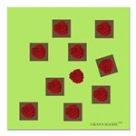 Raspberry Shuffle Square Car Magnet 3