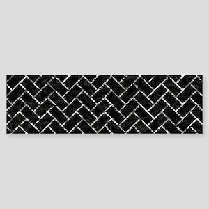 BRICK2 BLACK MARBLE & SILVER FOIL Sticker (Bumper)