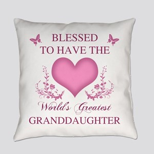 World's Greatest GrandDaughter Everyday Pillow