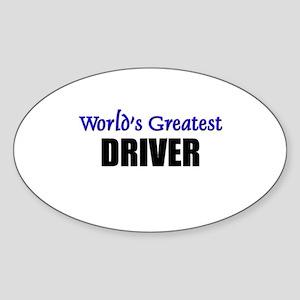 Worlds Greatest DRIVER Oval Sticker
