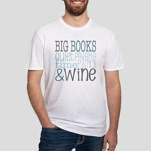 Big Books, Pajamas,Quiet, Wine Blue T-Shirt