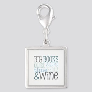 Big Books, Pajamas,Quiet, Wine Blue Charms