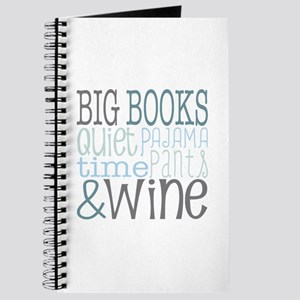 Big Books, Pajamas,Quiet, Wine Blue Journal