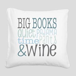 Big Books, Pajamas,Quiet, Win Square Canvas Pillow