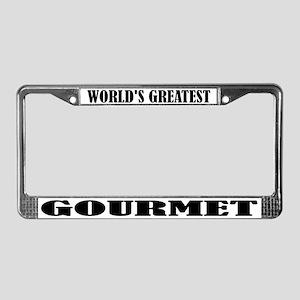 World's Greatest Gourmet License Plate Frame