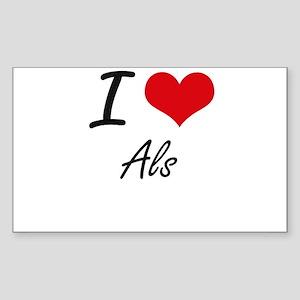 I love Als Sticker