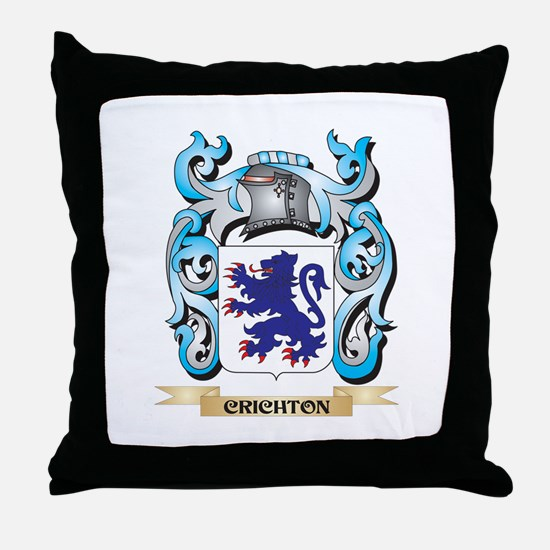 Crichton Coat of Arms - Family Crest Throw Pillow