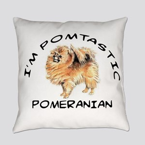 DOGS - POMERANIAN - POMTASTIC Everyday Pillow