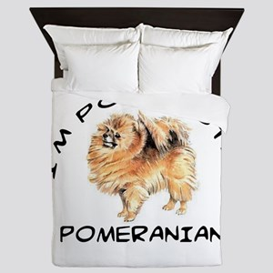 DOGS - POMERANIAN - POMTASTIC Queen Duvet