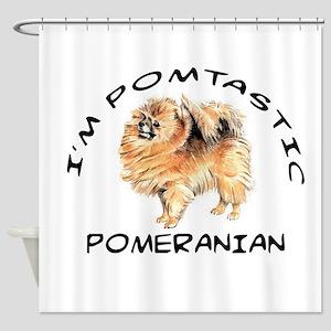 DOGS - POMERANIAN - POMTASTIC Shower Curtain