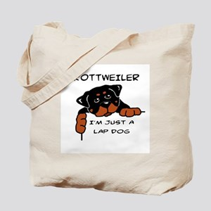 DOGS - ROTTWEILER - LAP DOG Tote Bag