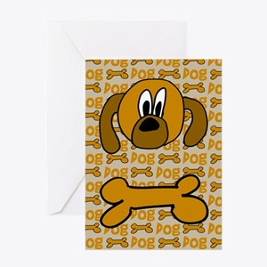 Dog & Bone Greeting Card
